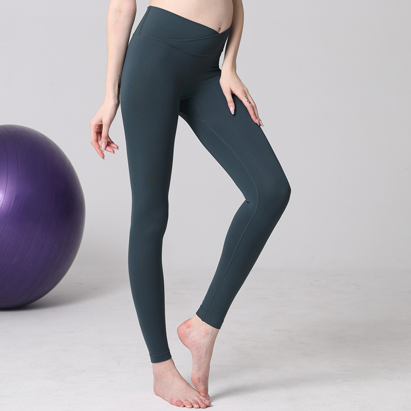 。 Pregnant women Yoga suit female pregnancy top autumn and winter pregnant women low waist spring and summer wear fitness pants female postpartum