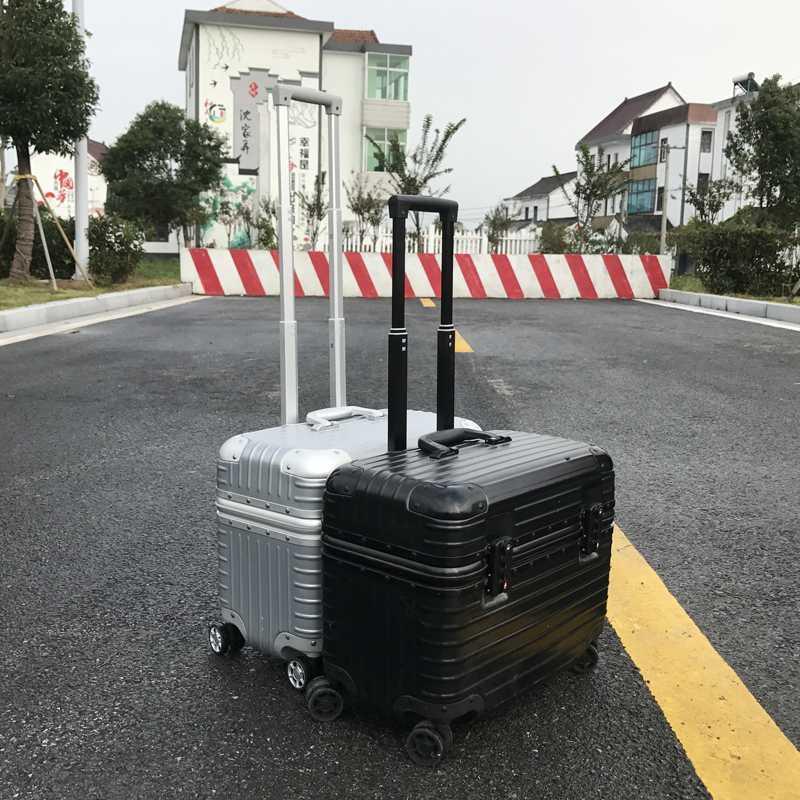 。 16 upper flap 18 photography aluminum frame pull rod box universal wheel travel suitcase 20 small machine long box men and women 23