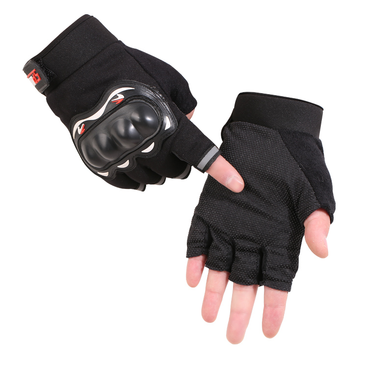 Mens Half Finger sports riding gloves tactical combat hard shell armor anti slip anti cutting special forces outdoor fitness