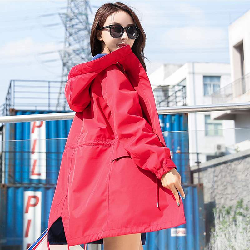 ? three in one or two outdoor mountaineering suits, Korean version BF Harajuku medium length jacket, womens fashion brand