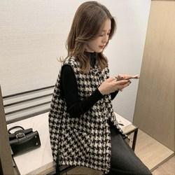 女士马甲背心外套秋冬季外穿2020年新款上衣宽松韩版时尚针织马夹