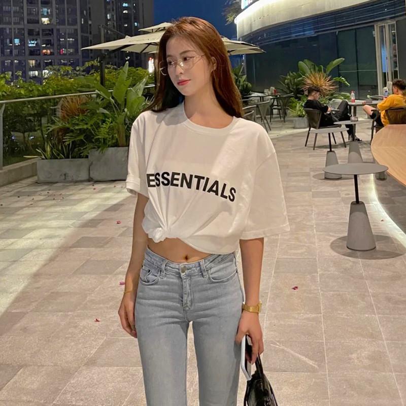 FEAR OF GOD FOG  ESSENTIALS夏季男女复线胸前字母高街短袖T恤潮