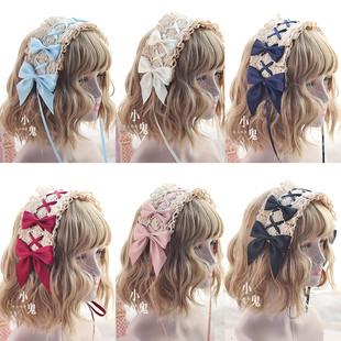 包郵洛麗塔lolita蕾絲髮帶lo娘頭飾可搭人形師安妮的早餐髮夾髮帶