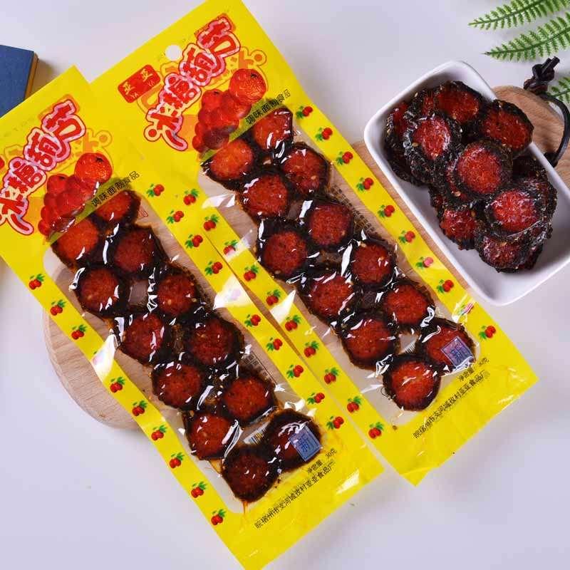 80后怀旧零食小卖部老北京冰糖葫芦辣条串串辣条小零食怀旧九零后图片