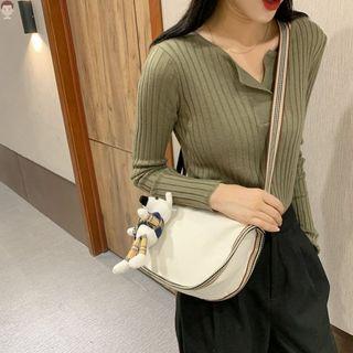 挎包女单肩斜挎日韩书时尚百搭大容量手拿胸学生购物袋提复古透明