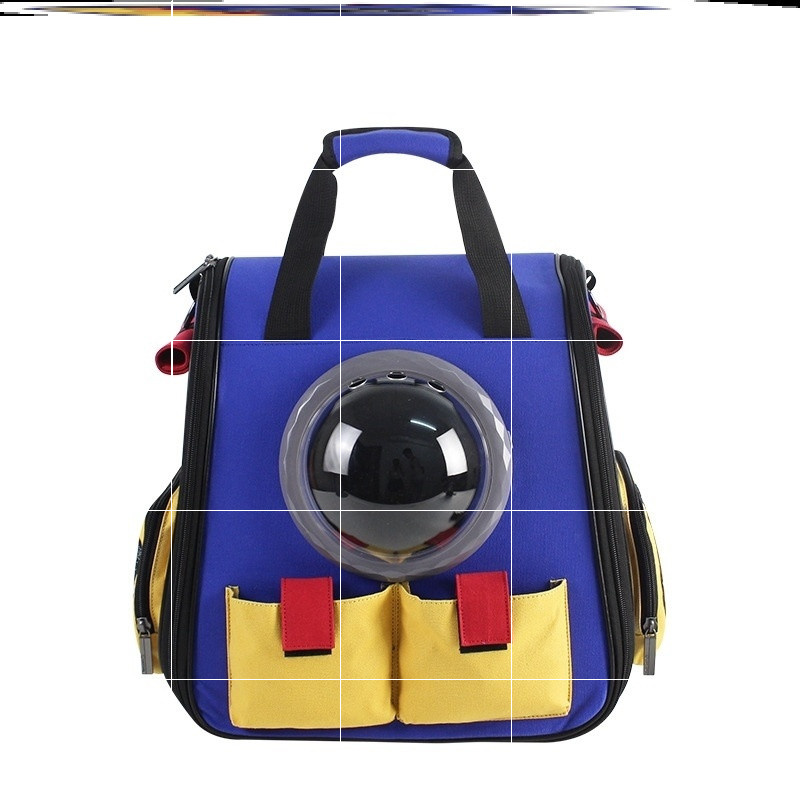 Young cycling dog cat dog summer medium sized backpack simple cat bag portable cat backpack breathable fat