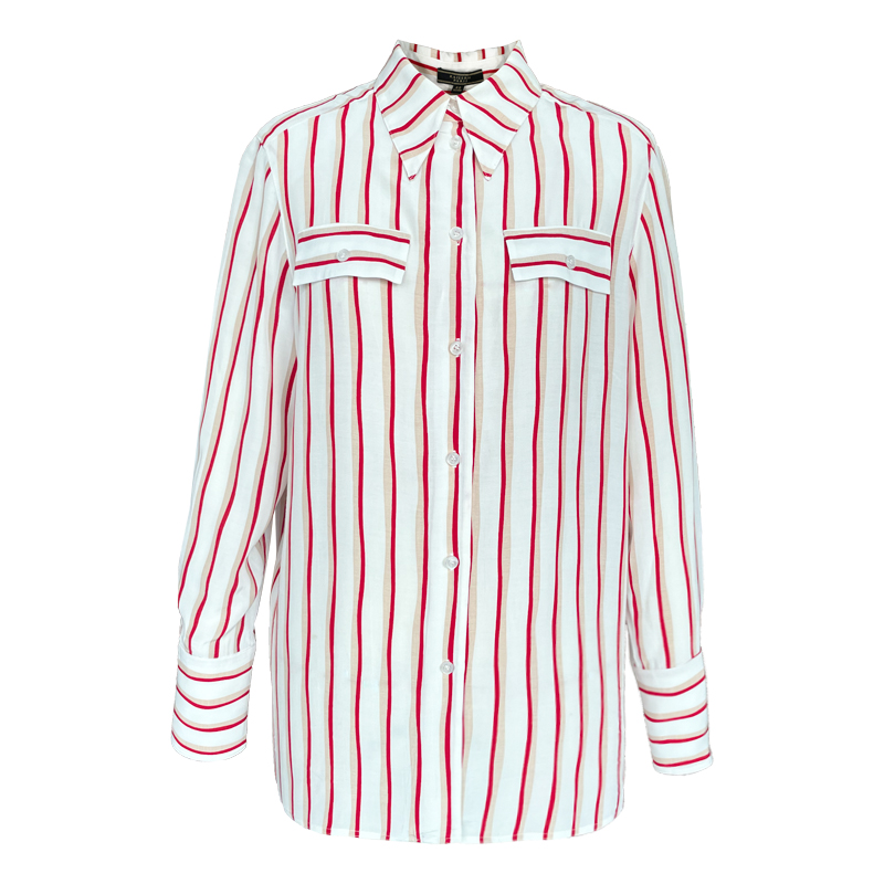 The same high quality 2021 early spring new top, striped shirt and long sleeve b011121a