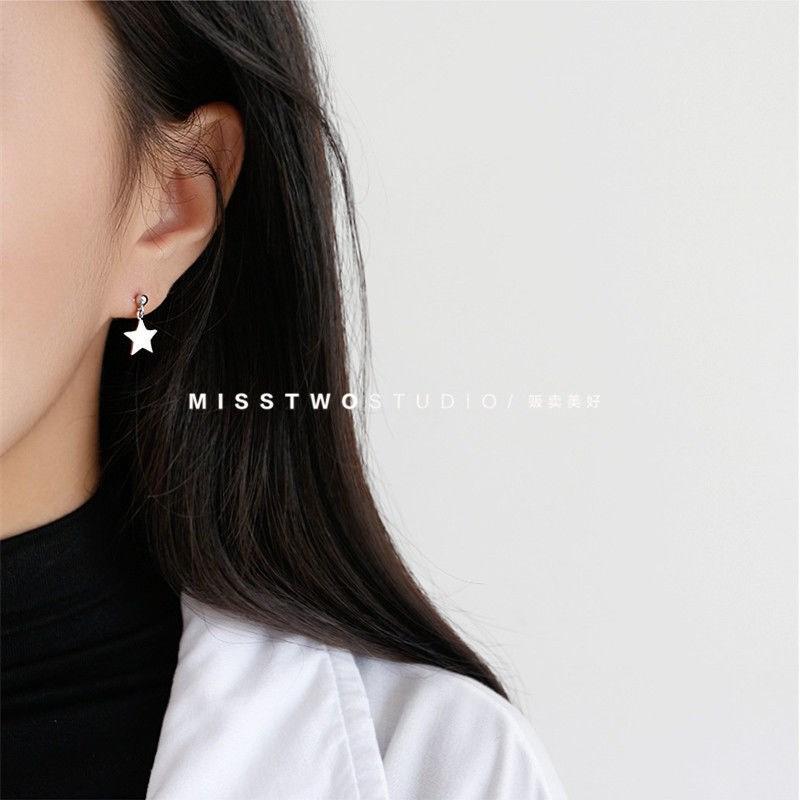 ins韩版耳钉女学生简约时尚星星月亮耳环极简风格耳饰耳环耳夹潮