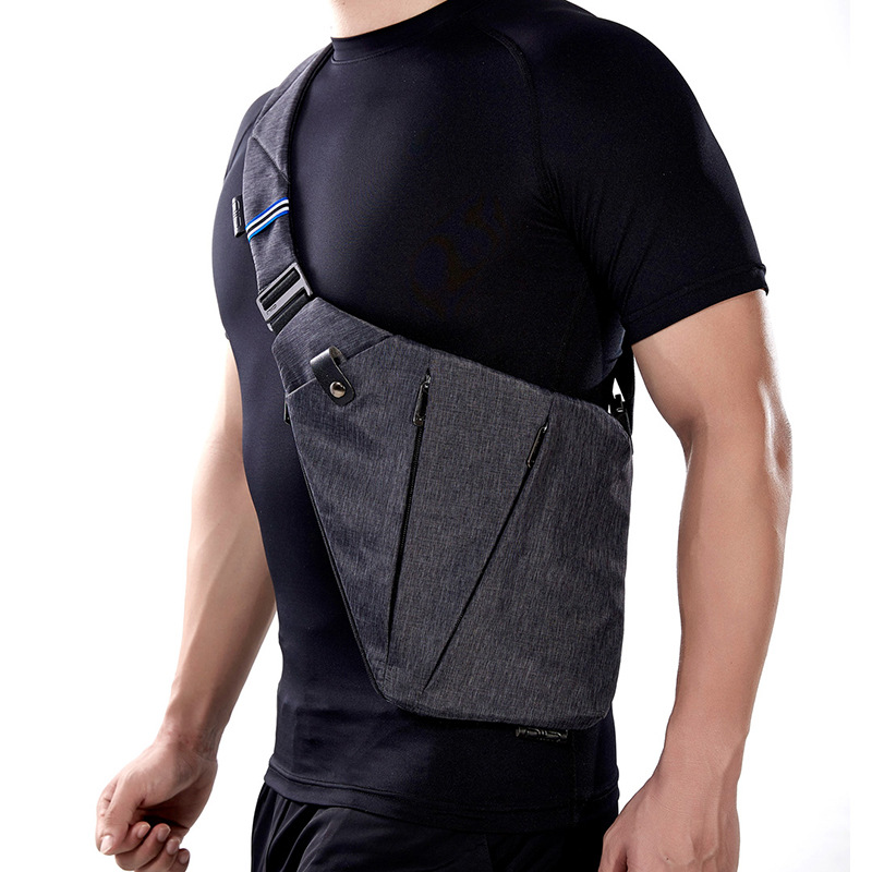 Mobile phone armpit multi-functional crossbeam chest bag male