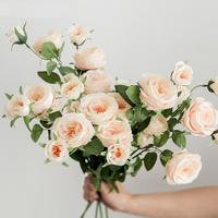 高档仿真玫瑰花束多头落地装饰花怎么样