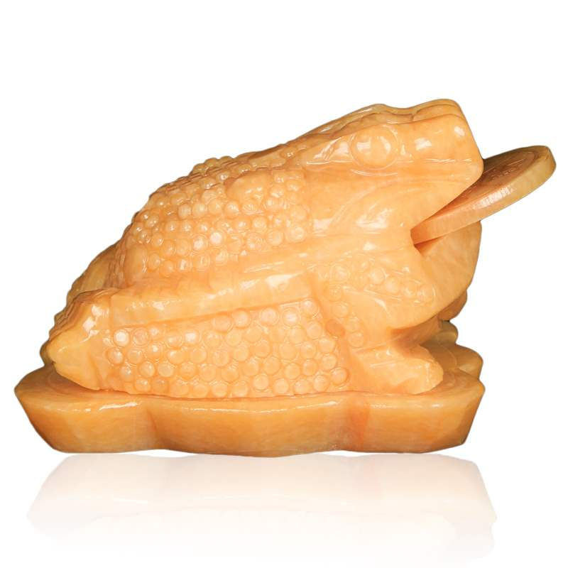 Topaz Golden Toad fortune ornaments three legged toad three legged cicada office store opening gifts jade ornaments