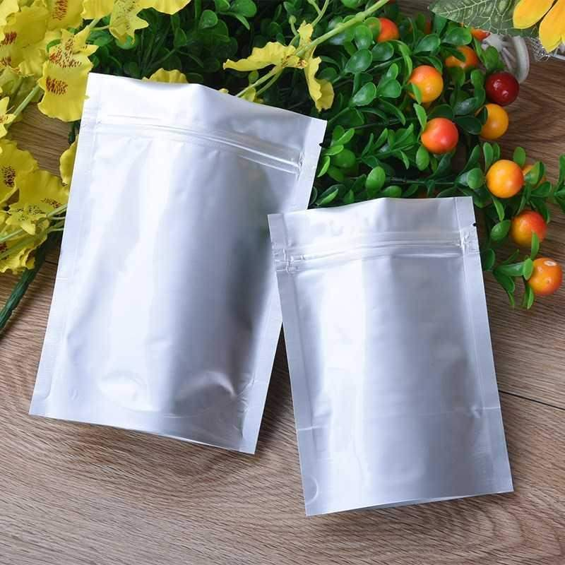 Electronic self sealing bag light proof pure aluminum foil self supporting food packaging bag dry goods bag product bag cooked food sealed bag