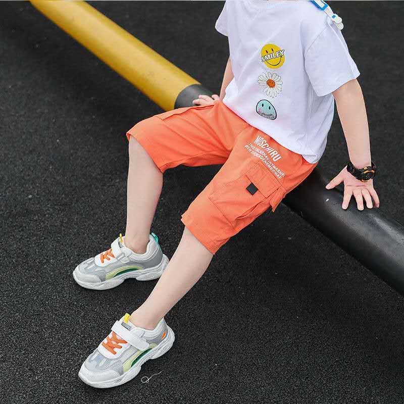 男童夏款工装短裤2021新款儿童洋气夏季裤子中大童休闲运动五分裤