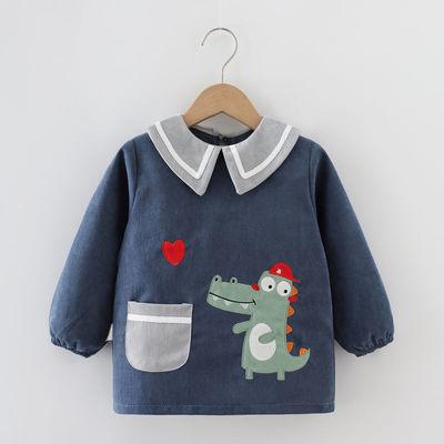 秋冬罩衣儿童防水防脏反穿衣婴儿吃饭衣宝宝围兜衣护衣罩衫围裙