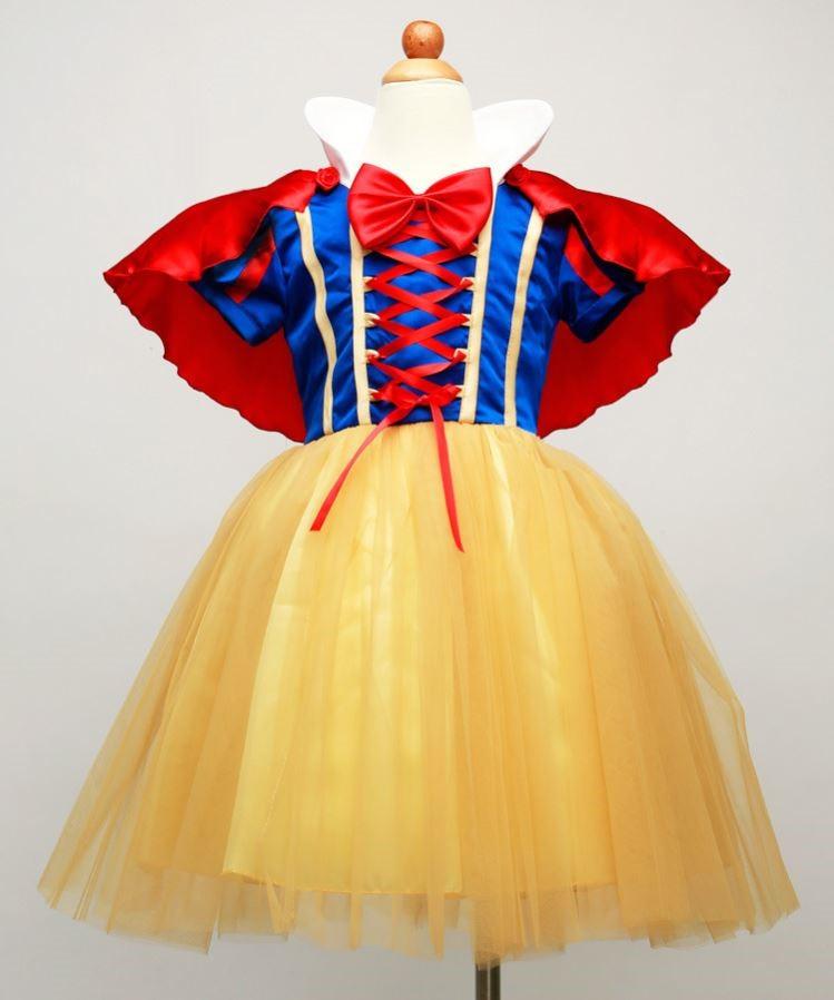 子供用の白雪姫の衣装撮影服ハロウィンのコスプレ衣装