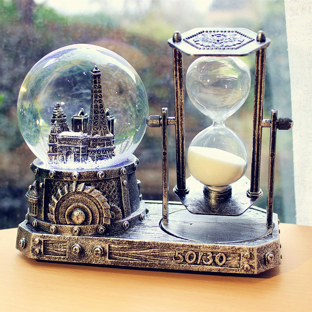 音乐盒玻璃宝盒朋友芭蕾星座梦幻木马八音盒手摇diy投影钢琴个。