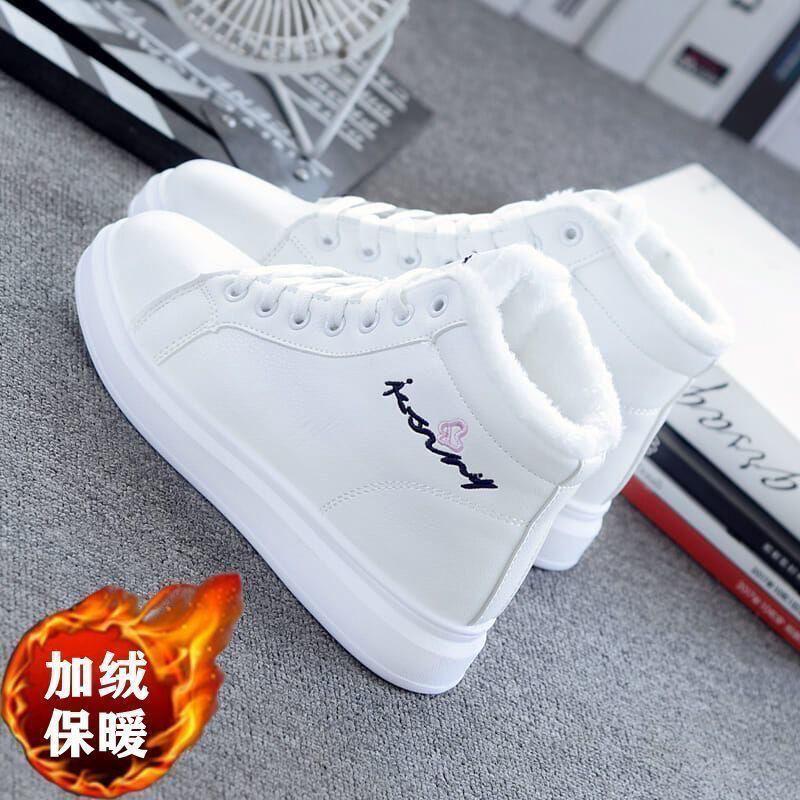 运动棉鞋女2020新款冬季百搭韩版学生小白鞋女厚底加绒加厚雪地靴