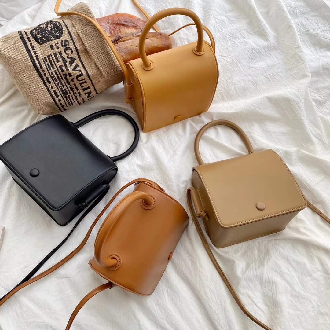 Sutoz suotong / Retro doctor bag square box bag simple versatile womens bag One Shoulder Messenger Bag Handbag