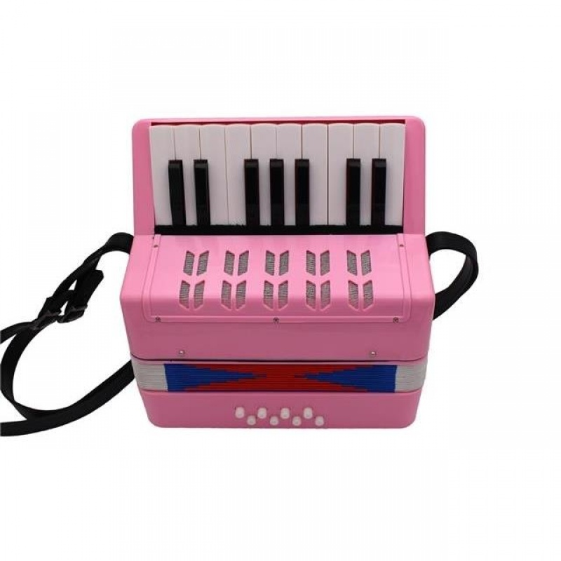17键8贝斯手风琴儿童启蒙宝宝乐器玩具生日玩具成人手风琴。