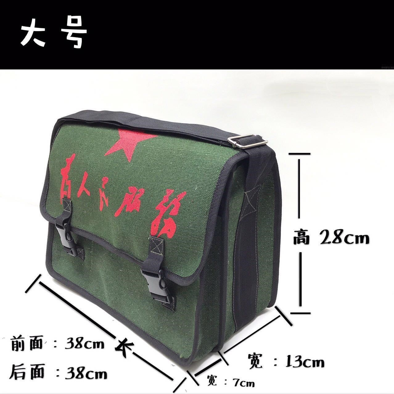 China backpack construction site film pasting portable small carpenter messenger roll bag double-layer canvas kit fishing bag mail bag