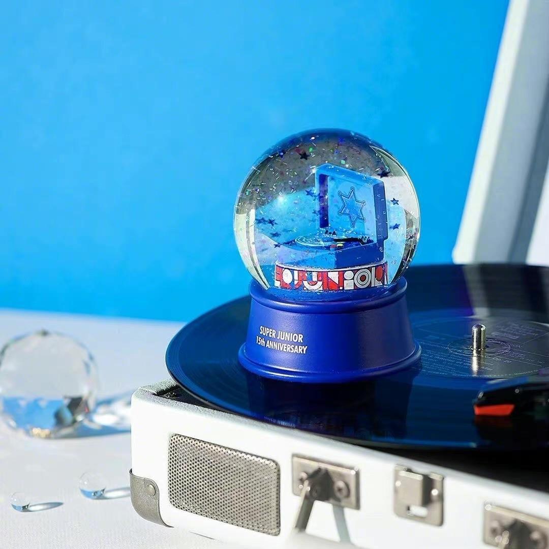 superjunior十五周年东方神起十七年纪念品水晶球玻璃圆球下单修