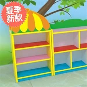 幼儿q园玩具架实木书架彩色防火板组合书柜卡通柜子儿童区角储物