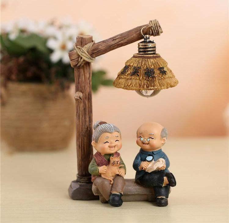 。银婚生日礼品老年人纪念品礼物金婚父母老人周年摆件结婚纪念日