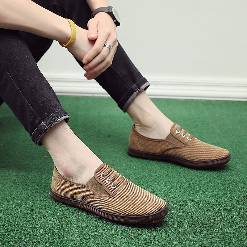 . Spring and autumn new manufacturers direct casual mens shoes mens canvas shoes working shoes mens single shoes Korean version of labor