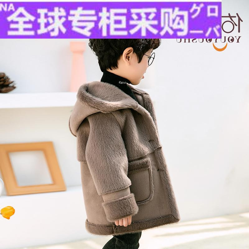 Japanese Ru childrens clothes, boys foreign style coat, winter clothes, childrens woollen coat, autumn and winter new baby suede windbreaker