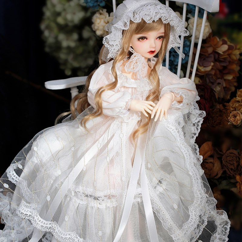 Bjd4 doll stock narco Mingzi girl SD hand joint doll full set wig shoes with clothes