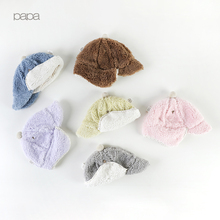 Papa autumn and winter Baby Hat Baby Lei Feng hat earmuff HAT NEWBORN westernized Winter Hat thickened warm boys and girls