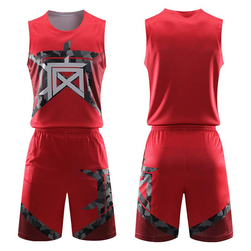 Mens basketball suit custom 2021 new training competition student print crazy Jersey camouflage basketball Vest Set