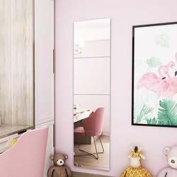 粘贴试衣少女镜子贴墙自粘穿衣镜学生宿舍寝室壁挂拼接家用全身镜