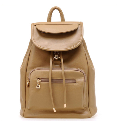 Bag Pu Han retro schoolgirl backpack with edition schoolbag 100 bags double shoulder college leather bag leisure College Students