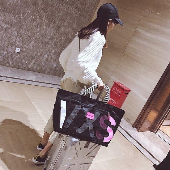 网红旅行包单肩包女行李袋可爱瑜伽包手提收纳轻便短途运动健身潮