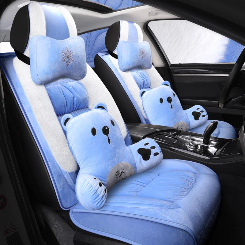 汽车坐垫冬季保暖短毛绒全包座垫加厚棉座套雅特英速亚庆铃TAGA