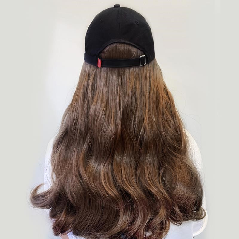 Hat with wig one winter woman with wool autumn winter real hair adult autumn winter short hair lamb hair