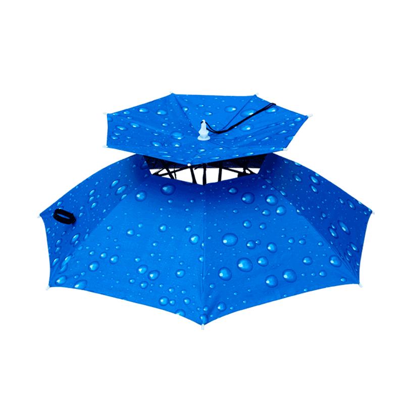 軽い頭頂日傘帽子の頭に傘帽子の頭をかぶっています。防雨マント式二階建ての小学生です。