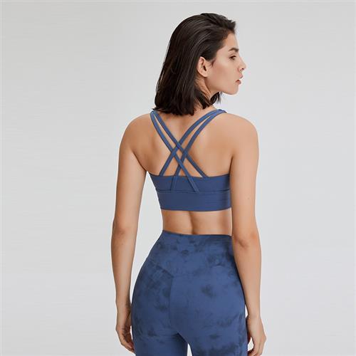 High grade 2020 new high mobility four line bra womens running strength anti-seismic walking fitness underwear