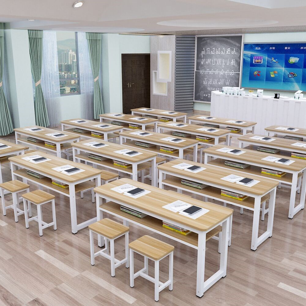中國代購|中國批發-ibuy99|桌椅|培训桌厂家直销长条桌单双人课桌椅中小学生补习班辅导培训班书桌