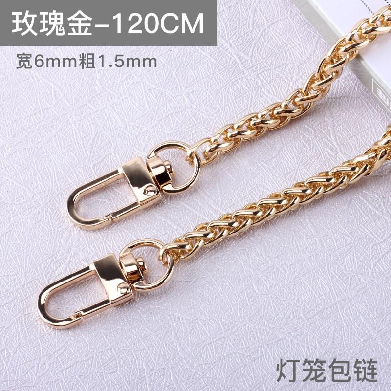 宽肩带女士斜跨包包带单肩包带链子金属宽粗链轻背带配件链条皮。