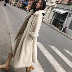 皮草外套女2020年冬季新款天鹅绒年轻款貂皮大衣长款过膝环保时尚