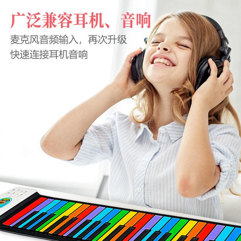 云之端儿童手卷钢琴49键电子手琴婴初学者便携式早教玩具乐器