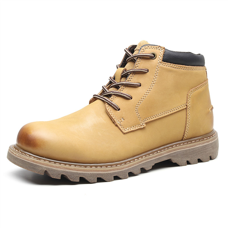 Dongwu Maile outdoor casual shoes Martin boots tooling boots leather short boots desert boots Goodyear fashion mens shoes