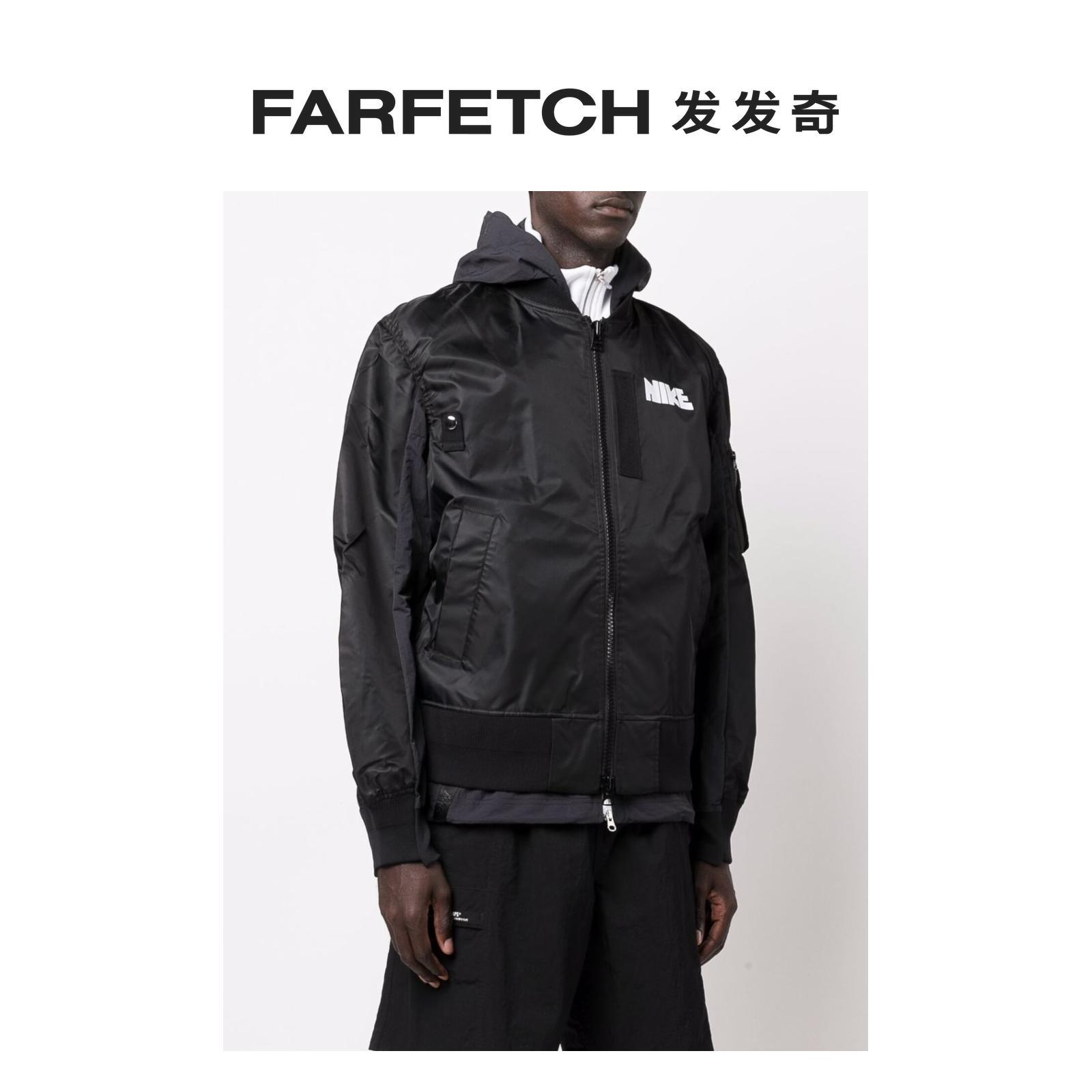 [新品]Nike耐克男士x sacai logo印花分层式飞行员夹克发发奇