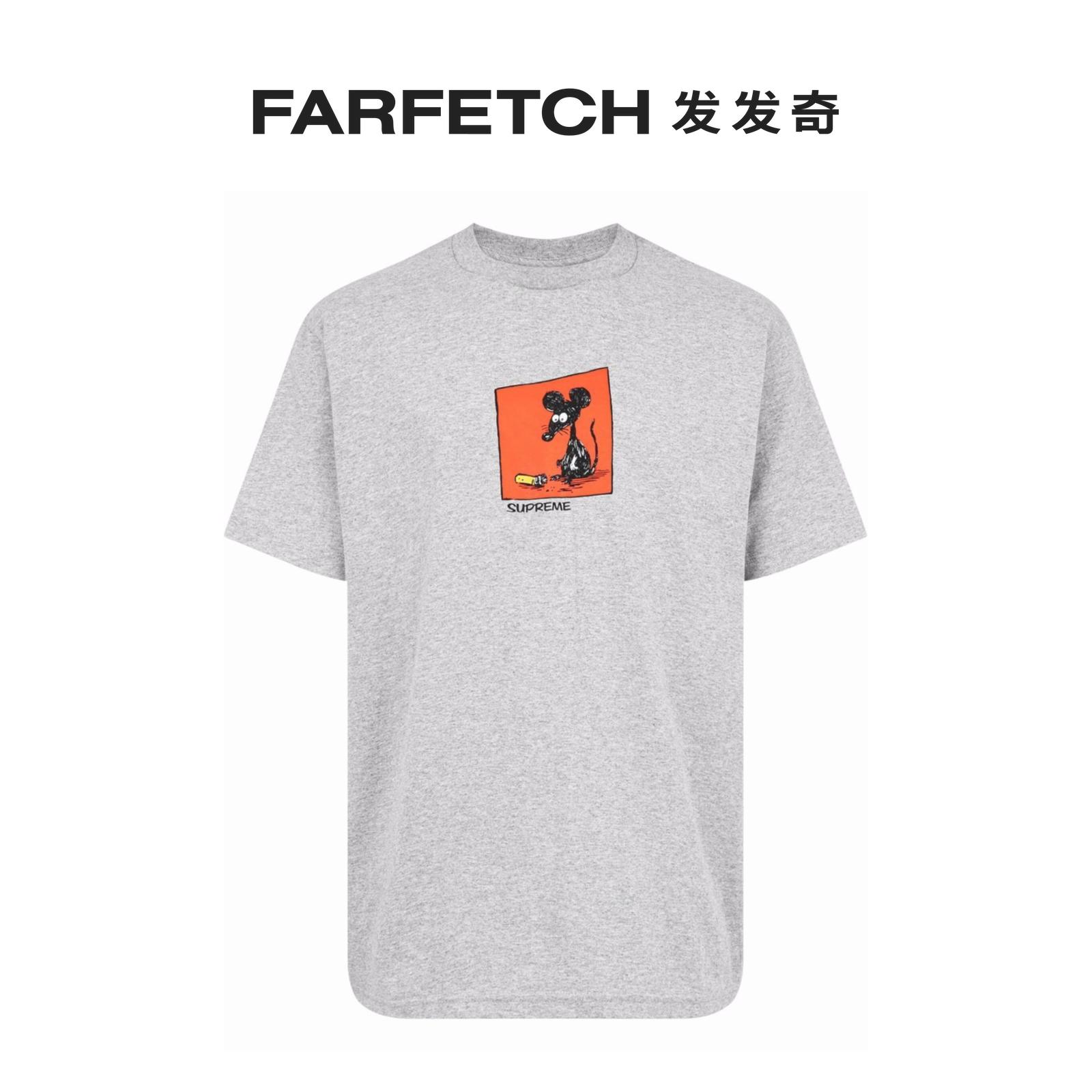 七夕礼物Supreme男士Mouse 印花T恤FARFETCH发发奇