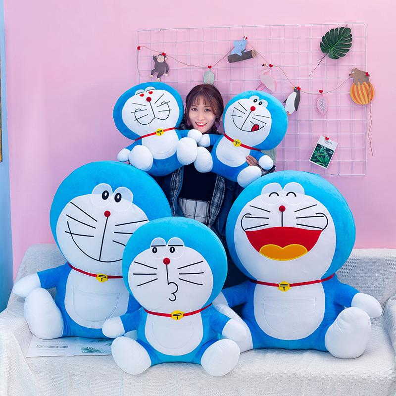 毛绒玩具公仔可爱蓝胖子抱枕大号机器猫布娃娃玩偶女孩礼