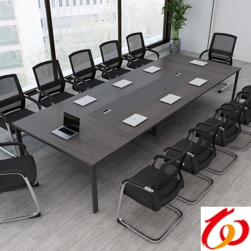 Office furniture large and small office meeting table long table Jane board of directors factory layout 10 people table