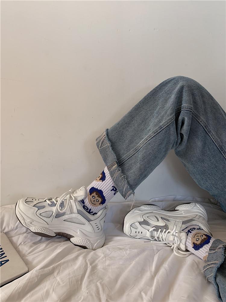 タオバオ仕入れ代行-ibuy99 运动鞋 老爹潮鞋女春季新款百搭透气厚底学生ins网红休闲超火运动鞋2020