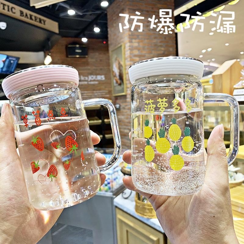 网红玻璃有滤网带茶隔防摔耐热水杯